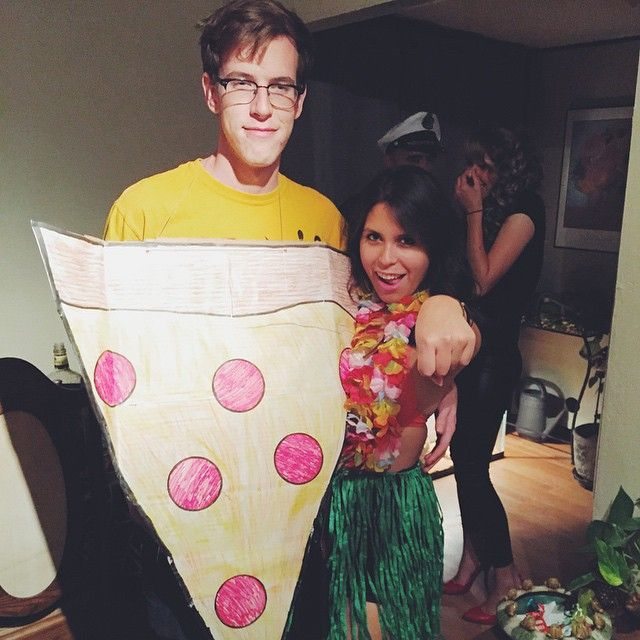 Hawaiian Pizza Insanely Clever DIY Couples Costume Ideas - 28 awesome halloween costumes couples