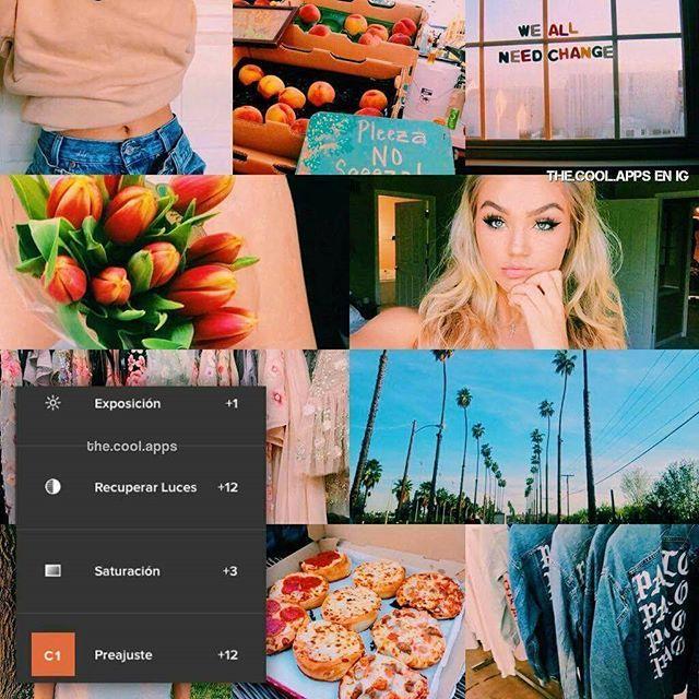 Filtro naranja instagram