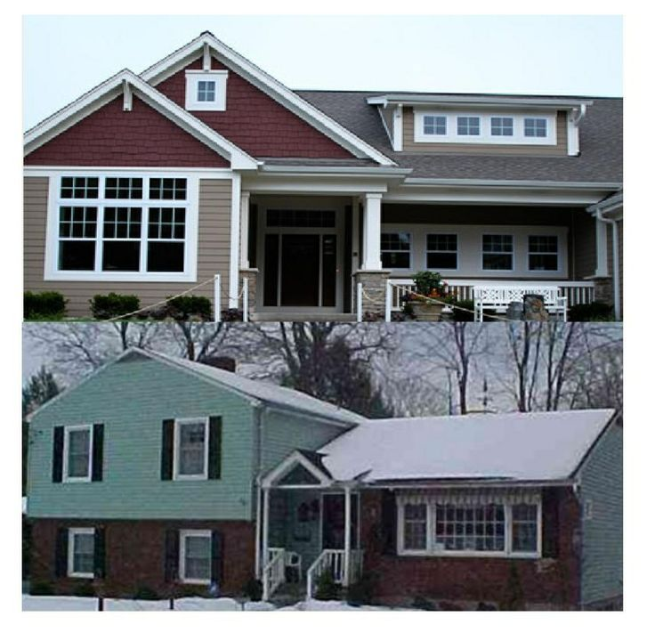Remodel Tri Level House Pictures:foxy Splitlevel Exterior Exterior House  Views Pinterest More