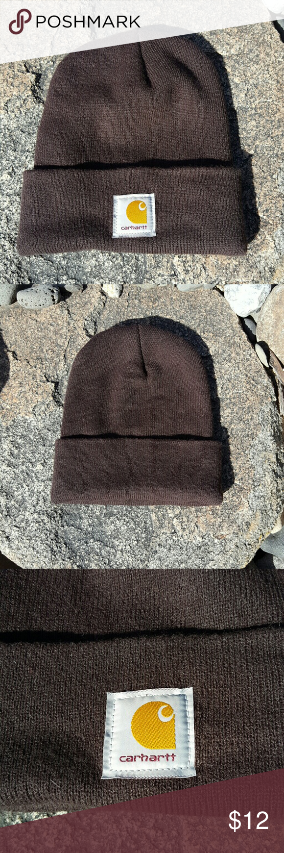 2056eac3ca8 Brown Carhartt Hat Carhartt Brown Color Stretchy Fit Perfect Condition!  Only Worn Once Carhartt Accessories Hats
