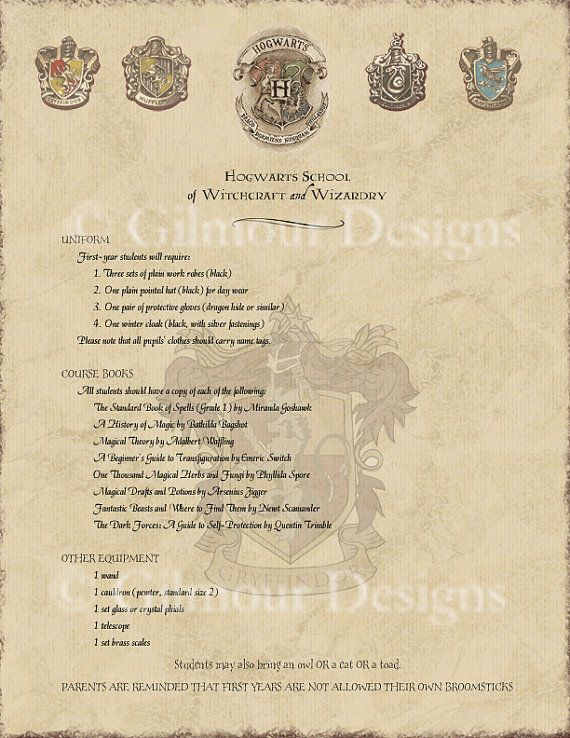 harry potter hogwarts acceptance letter by gilmourdesigns on etsy