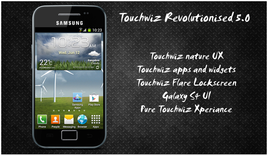 Touchwiz Revolutionized ROM for Samsung Galaxy Ace! The Best