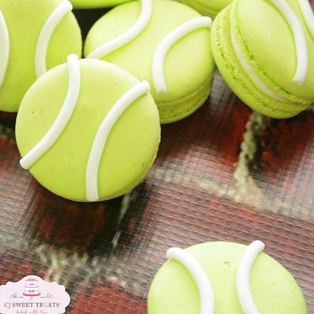 Tennis Ball Macarons From Cj Sweet Treats Macaron Tennis Sports Baking Sweet Treats Macarons Sweet
