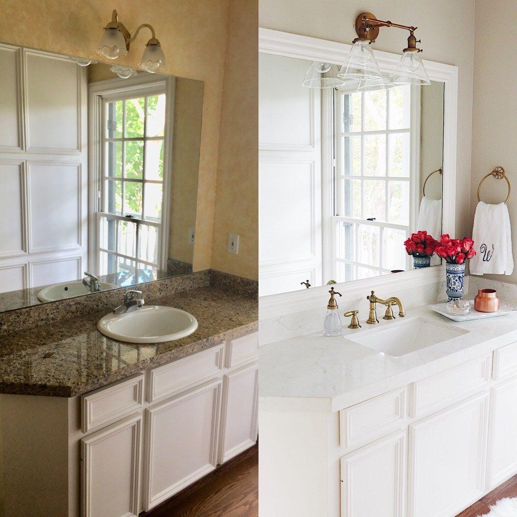 New House Guest Bathroom Makeover Before After Bathroom Sconces Bathroom Inspiration Vintage Bathrooms