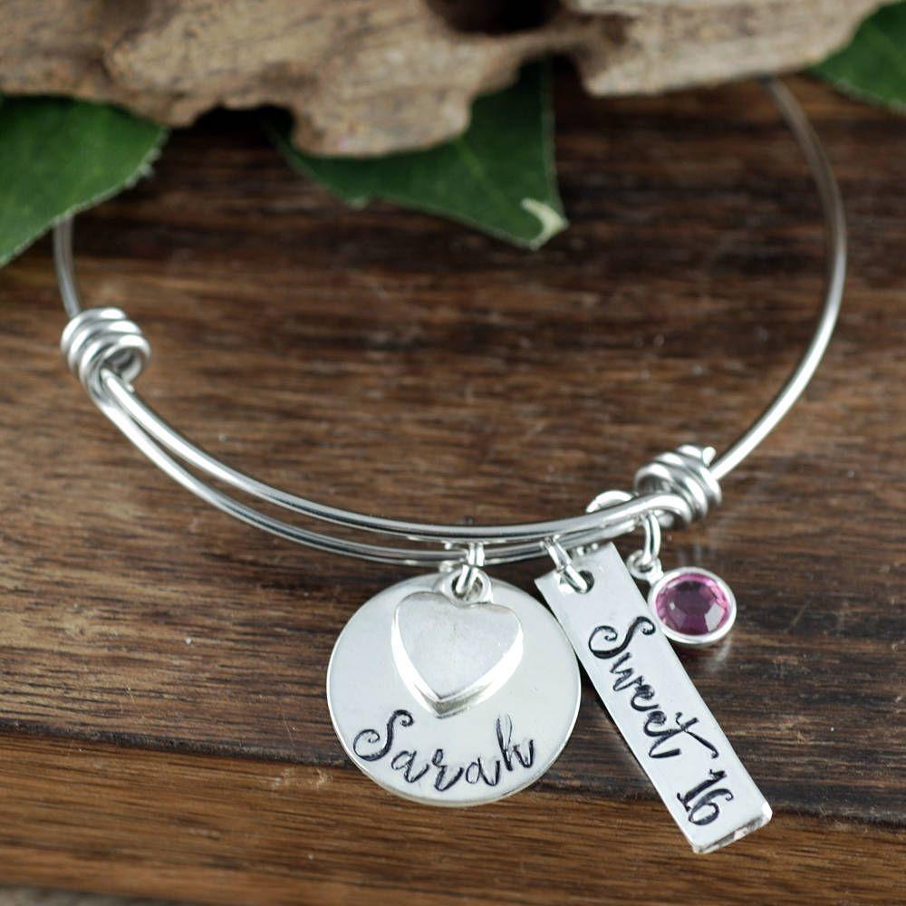 Sweet 16 Bracelet Personalized Jewelry