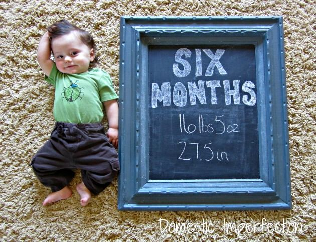 keeping track of baby's growth cute idea
