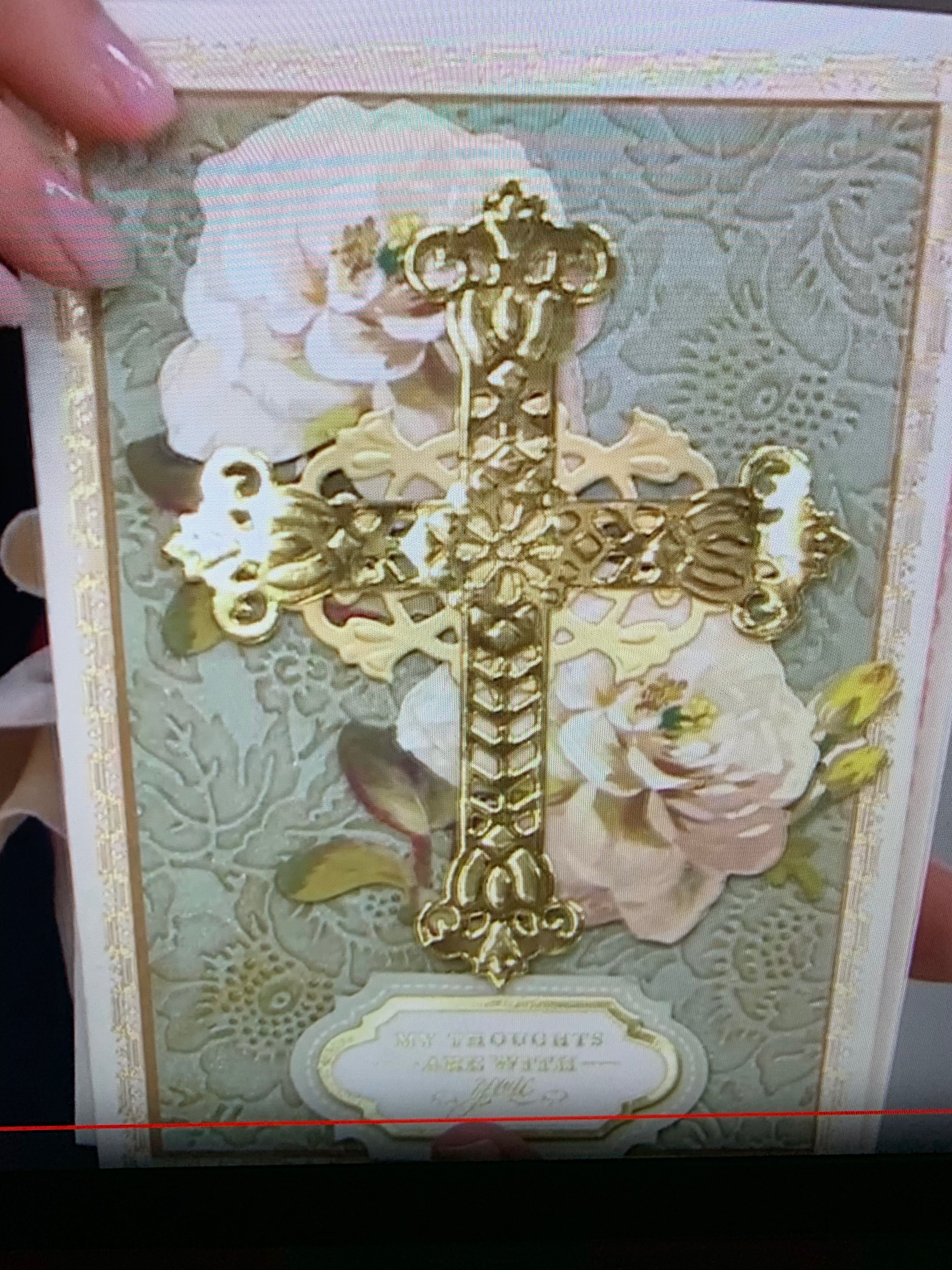Anna Griffin Crosses Cut and Emboss Die Set Card Making Sympathy Christening 5pc