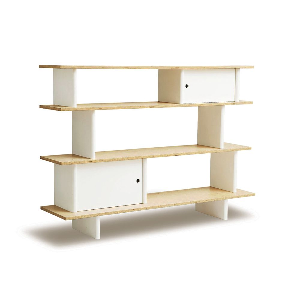 Regal Birke Oeuf Regal Mini Library In Birke Weiß | Engel&bengel Onlineshop | Moderne Kindermöbel, Kinderbücherregal, Bücherregal Weiss