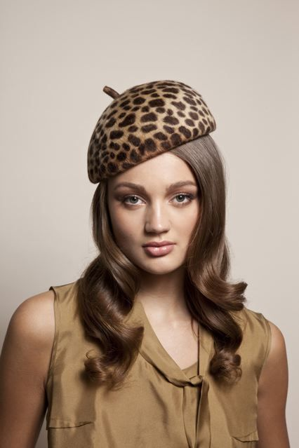 Leopard print felt beret by Eugenia Kim  76d343f6eb1