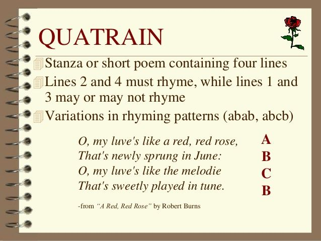 Pics For > Quatrain Poems For Kids Examples | Teaching English ...