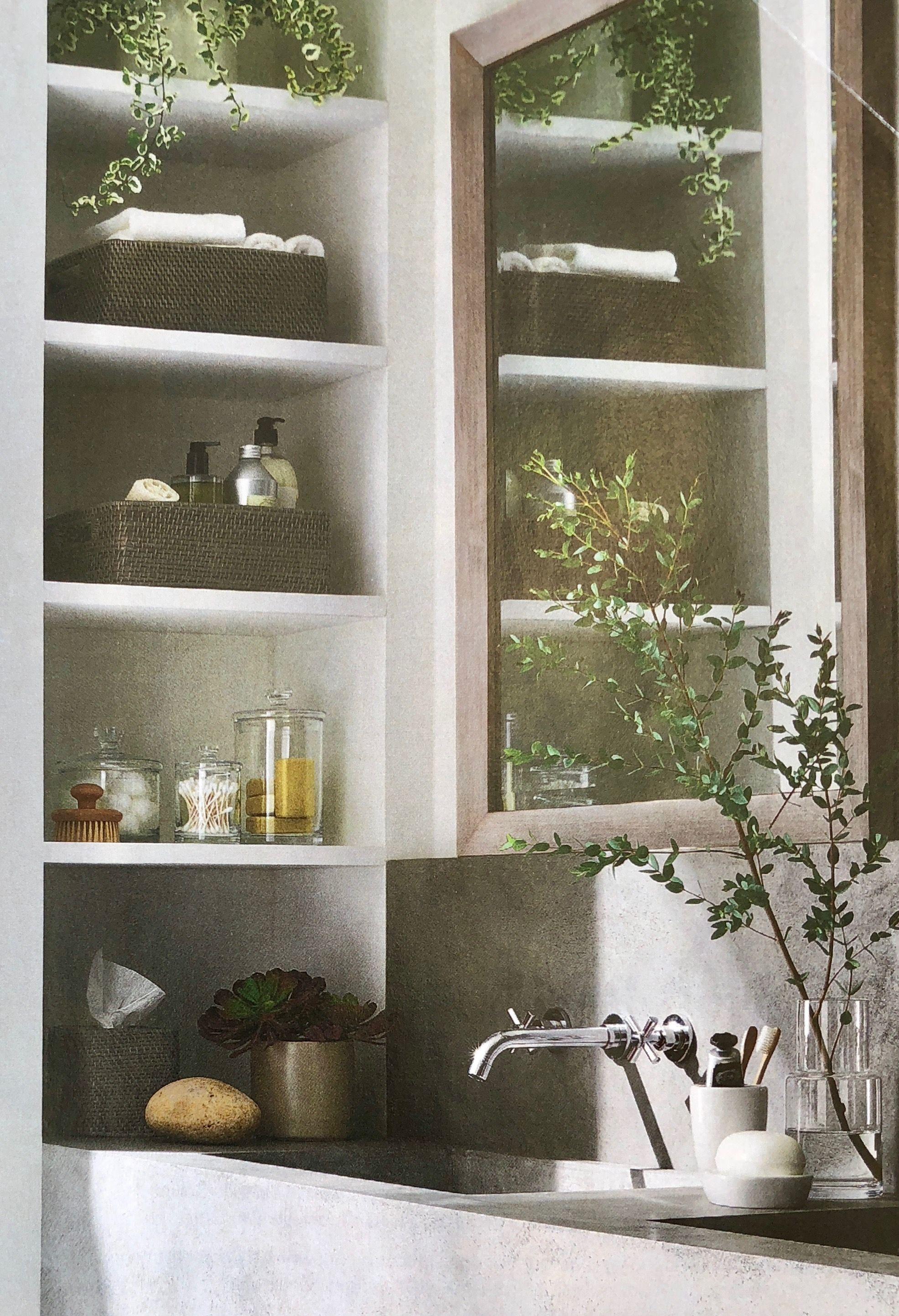 17++ Bathroom cabinet with side shelves model