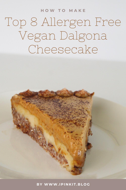 Dalgona Coffee Gluten Free Vegan Cheesecake Recipe (Soy