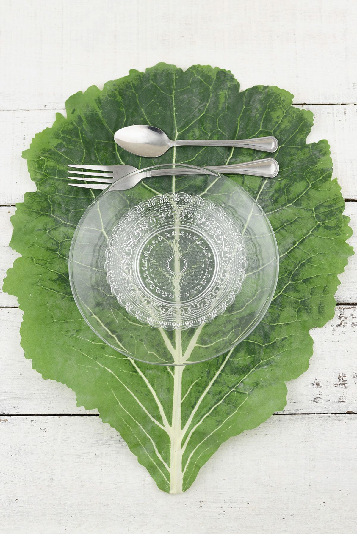 Textured Cabbage Leaf Placemats. Garden party perfection!