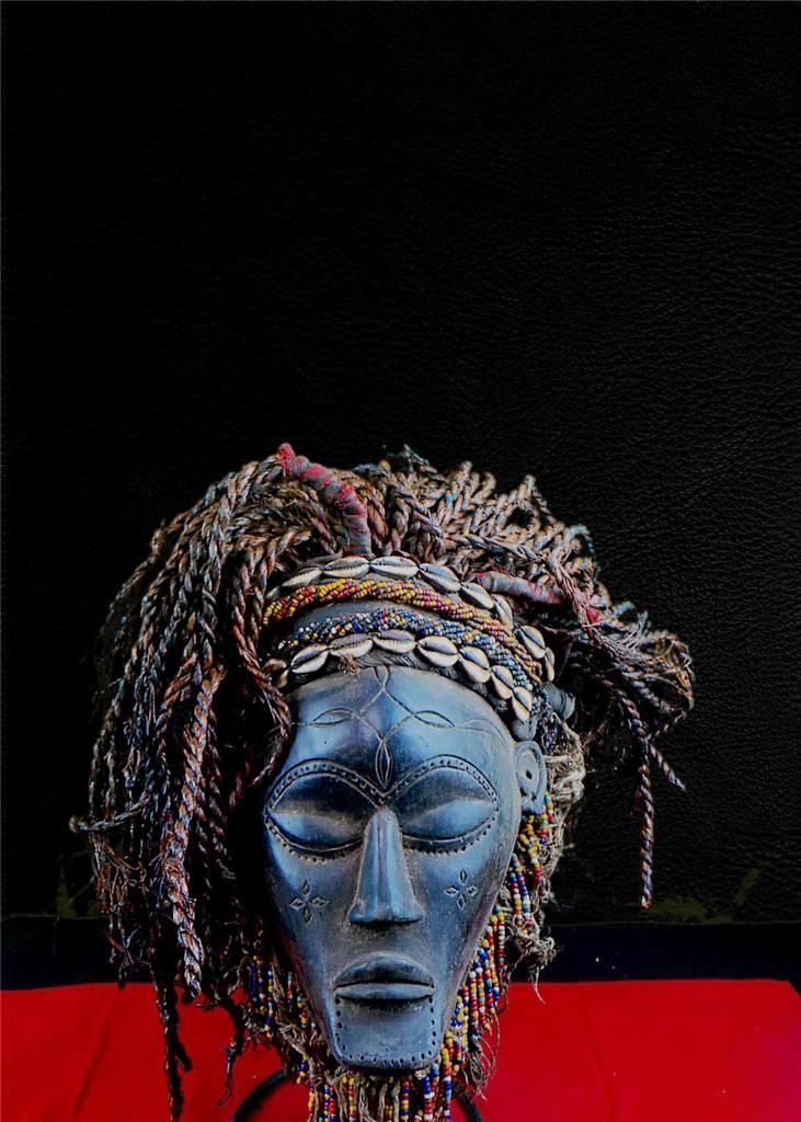 Fine Tribal Chokwe Fetish Mask with Cowries Angola   eBay
