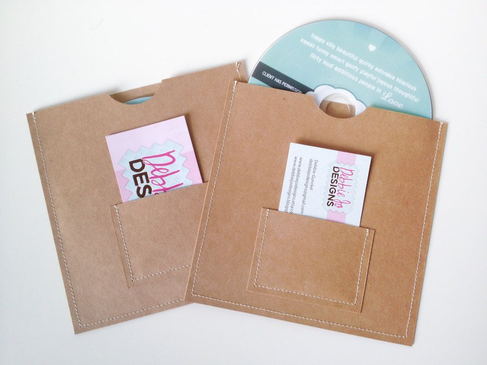 DVD Cases / Sleeves - 25 DVD sleeves with business card pocket on ...