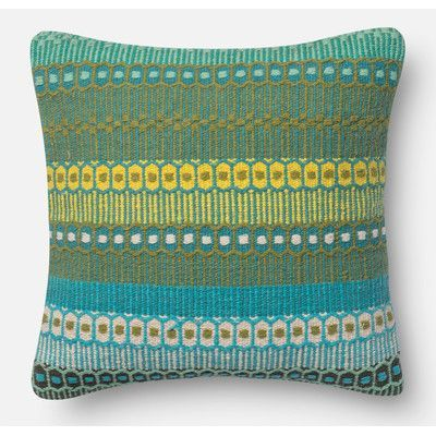 "Loloi Rugs Throw Pillow Size: 18"" H x 18"" W x 6"" D, Color: Ombre Melbourne"
