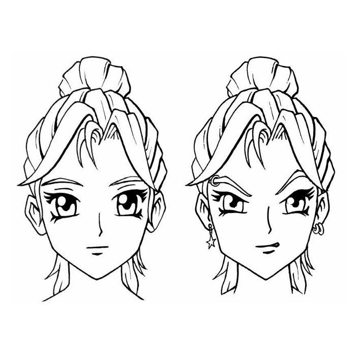 Coloriage Tetes De Fille Manga A Imprimer Gratuit Coloriage Coloriage Animaux Coloriage Gratuit