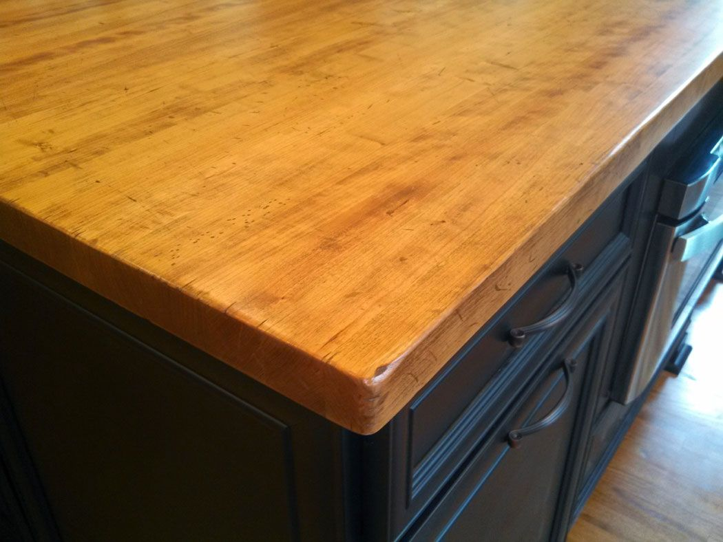 Distressed Wood Countertops Butcher Block Countertops Kitchen