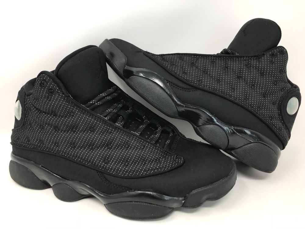 reputable site 363c0 7338e CLEAN Nike Air Jordan 13 XIII Retro Black Cat Anthracite Size 7.5 414571-011   Nike  BasketballShoes