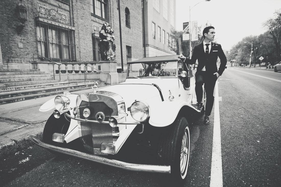 Hartford City Hall Wedding Vintage Mercedes Benz Old ...