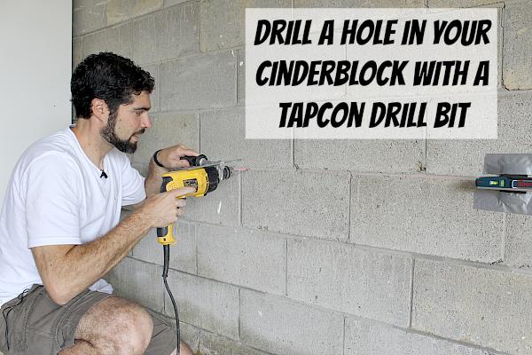 Drill Hole In Cinderblock Garage Organization In 2019