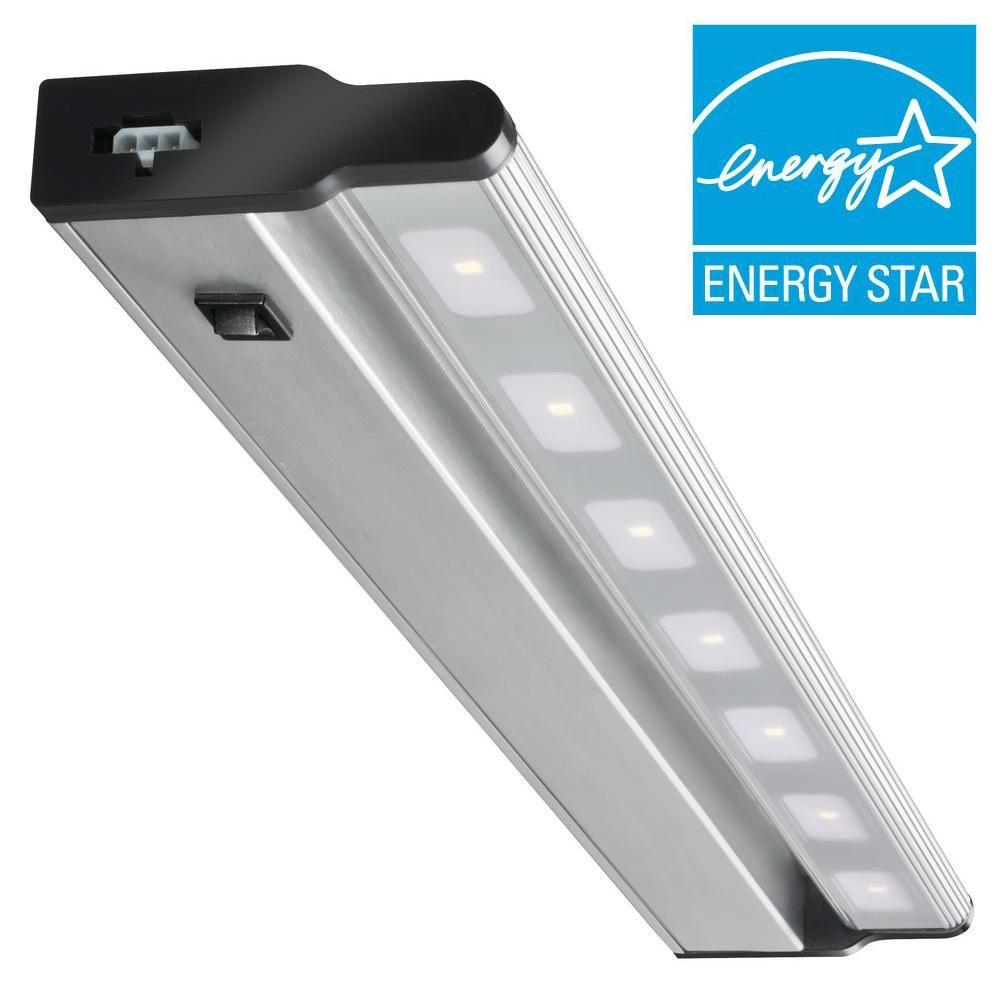 Lithonia Lighting 24 in. LED Brushed Nickel Under Cabinet Light ...