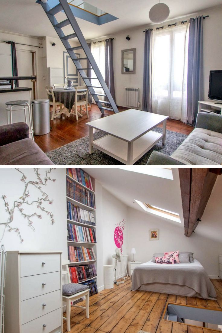 Small Apartments Don T Have To Feel Small Plenty Of Space For Only One Bedroom And In A Lovely Part Of Paris Petit Appartement Meuble Duplex Paris
