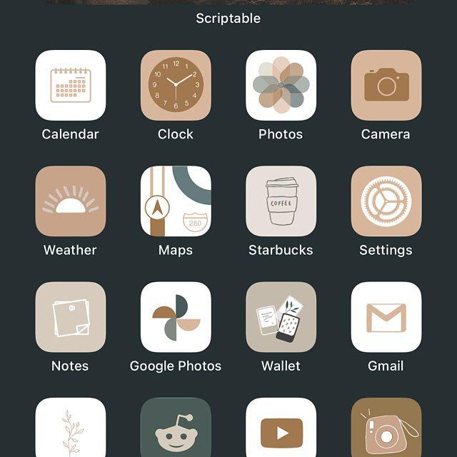 Autumn Boho Icon Theme Pack   IOS 14   App Covers