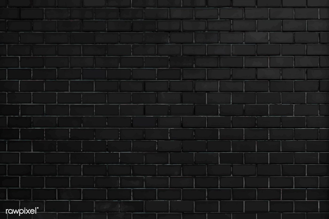 Download Premium Vector Of Black Brick Wall Textured Background 514140 Black Brick Wall Black Brick Textured Background