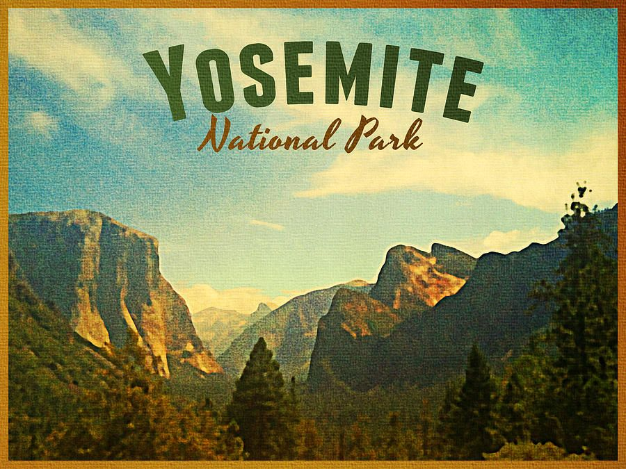 Vintage Travel Posters National Park | Vintage Yosemite National Park Digital Art