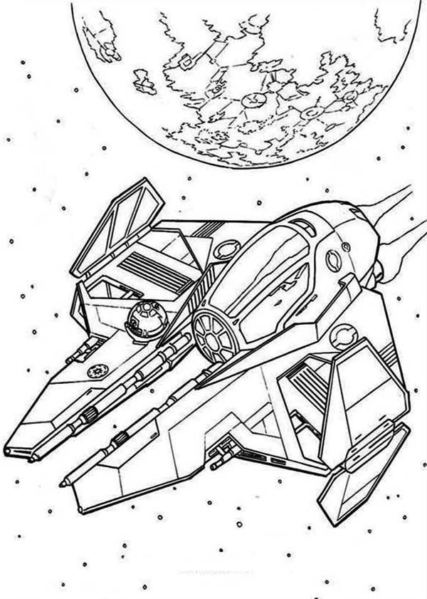 Star Wars Spaceships Coloring Page Avec Images Coloriage Star