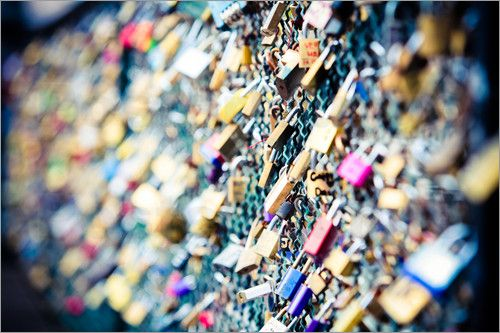Brücke Der Liebe Mit Schlössern In Paris Sarah Kastner