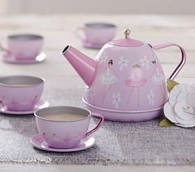 Ballerina Mini Tin Tea Set Kids Tea Party Tea Set