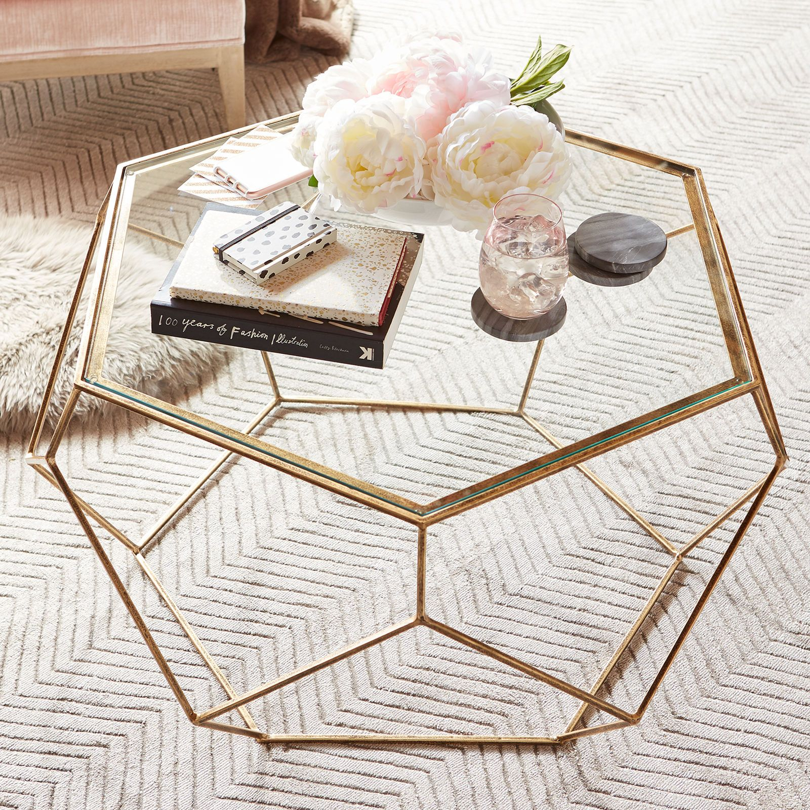 Geometric Coffee Table Round Glass Coffee Table Decorating