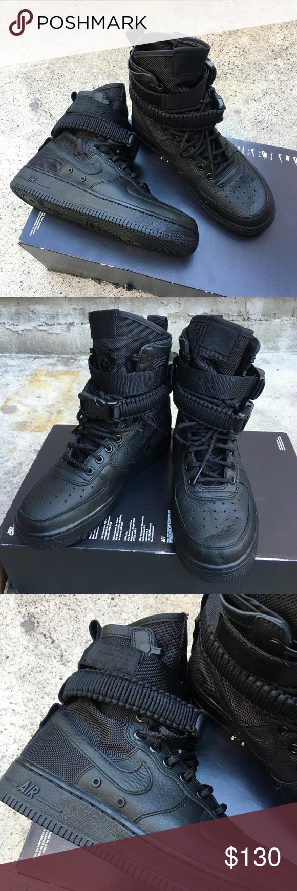 NWT Women's Sz 8 SF Air Force 1 In Triple Black Nike