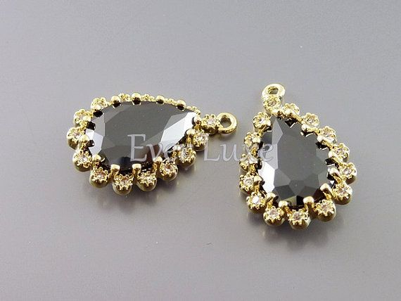 Hey, I found this really awesome Etsy listing at https://www.etsy.com/listing/186693217/2-black-fancy-cubic-zirconia-cz-teardrop