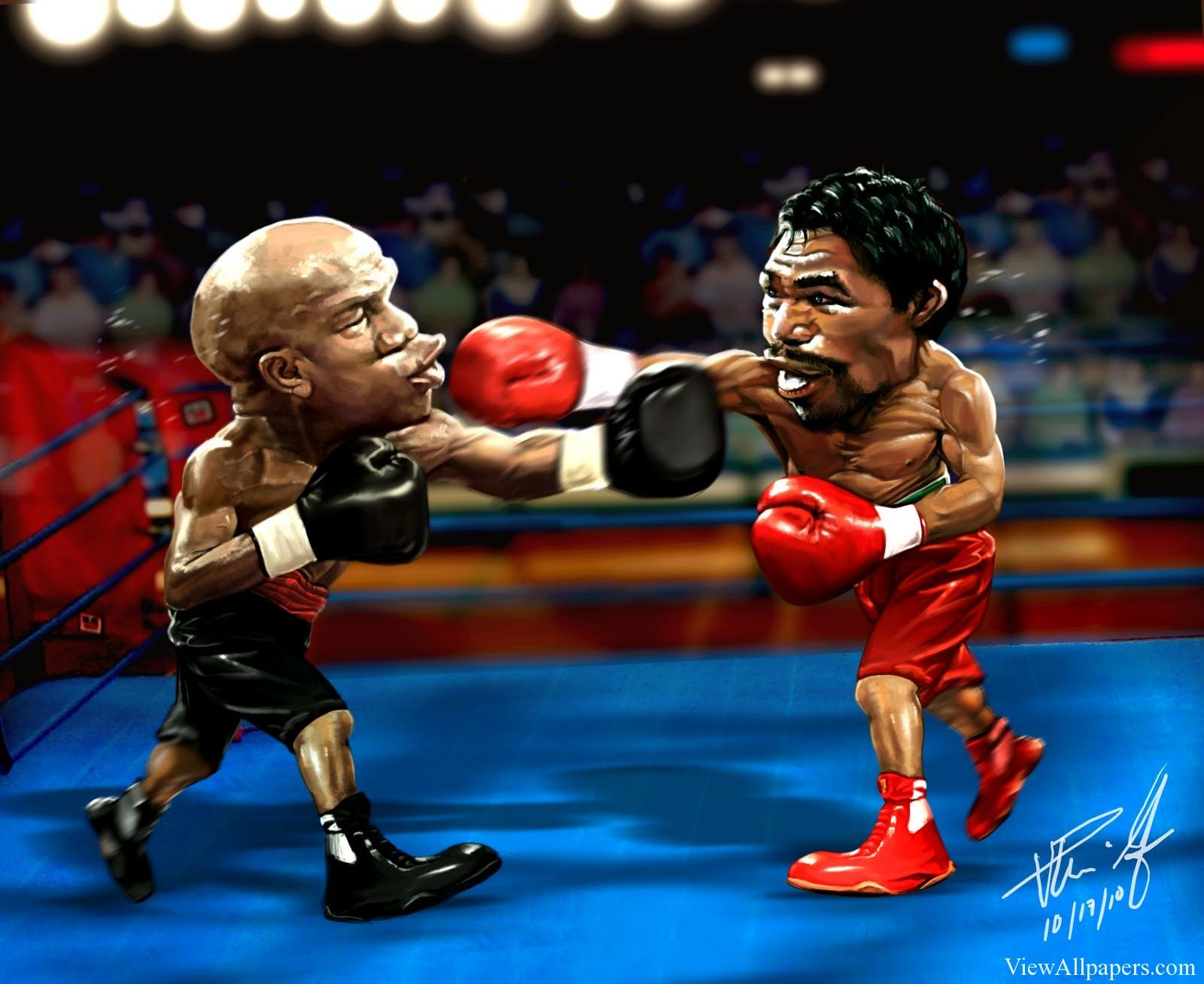 Floyd Mayweather Vs Manny Pacquiao Cartoon Sports Hd Wallpapers Funny Pictures Manny Pacquiao Jokes Photos