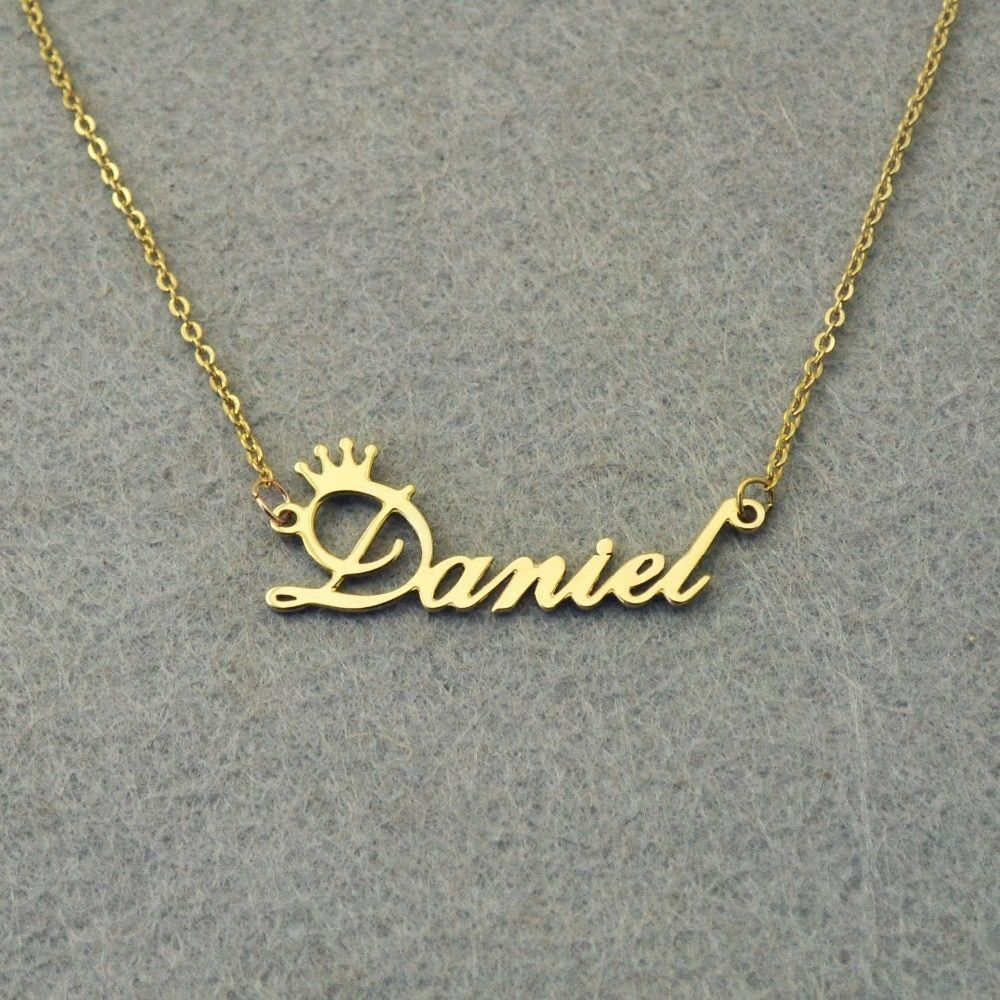 Personalized Necklaces Custom Letter Engraved Name Jewelry With Chain