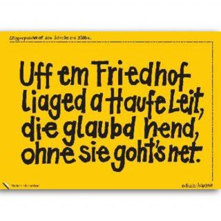 stickerpostkarte uff em friedhof liaged a haufe leit. Black Bedroom Furniture Sets. Home Design Ideas