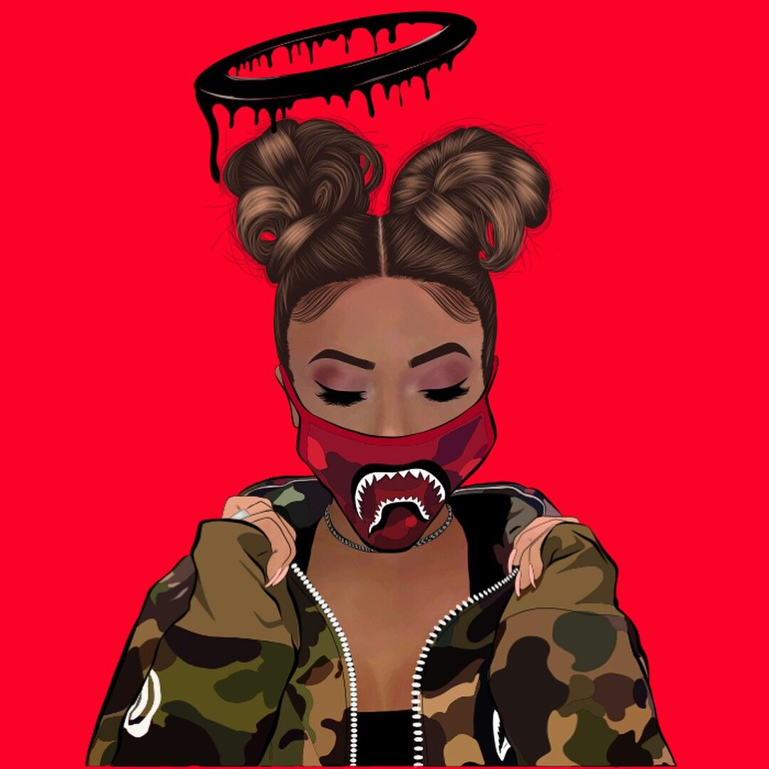 Pin by dymonae on art in 2018 pinterest art black - Cartoon girl wallpaper ...