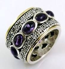 Image result for gemstone spinner ring