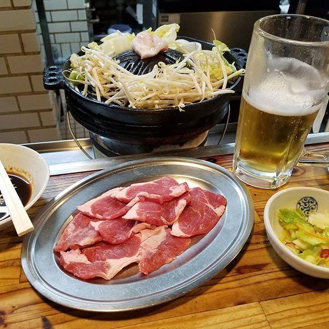 @北海道 味の羊ヶ丘  昼から食べられるジンギスカンのお店。  #北海道 #hokkaido #札幌 #すすきの #ジンギスカン #焼き肉 #肉 #羊 #ビール #beer #食べ歩き #飲み歩き #一人旅