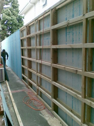 Blue Board Fences Day Carpentry Fence Design Fence Home Landscaping