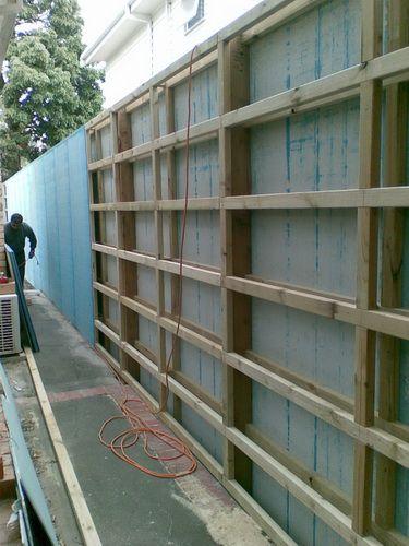 Cement Sheet Fence Or Screen Idea Fence Design Pergola
