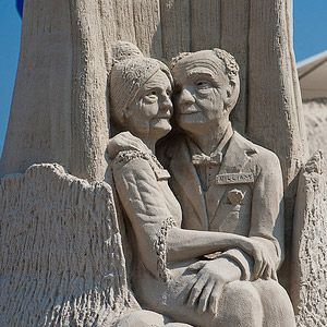 Golden Couple    We're particularly smitten with Love Never Grows Old by John Goudy, taken at the North American Sand Sculpting Championship in Virginia Beach, Virginia.  « Previous | Next »    | Save    welcome Sign in or Sign up  Newsletters | My Account | Tools | Groups