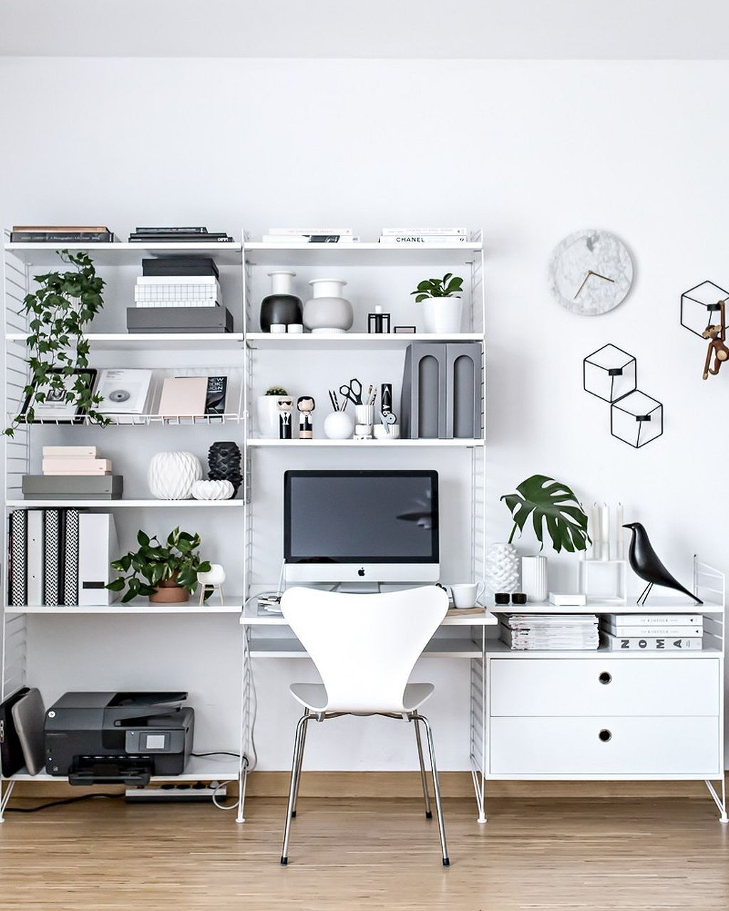50 Splendid Scandinavian Home Office And Workspace Designs: 90+ Reasons To Love The Scandinavian Interior For Your Apartment