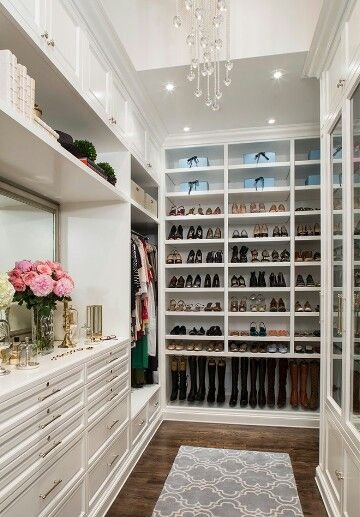 Bright white closet