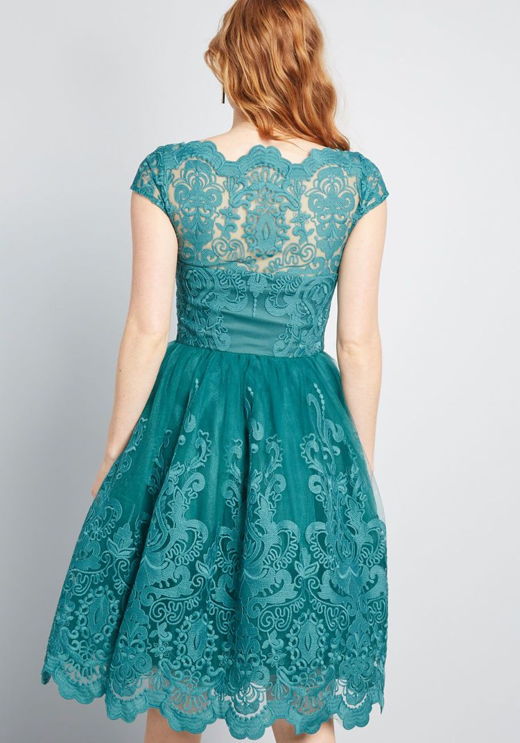 c7a8e70625cd Chi Chi London Chi Chi London Exquisite Elegance Lace Dress in Lake teal