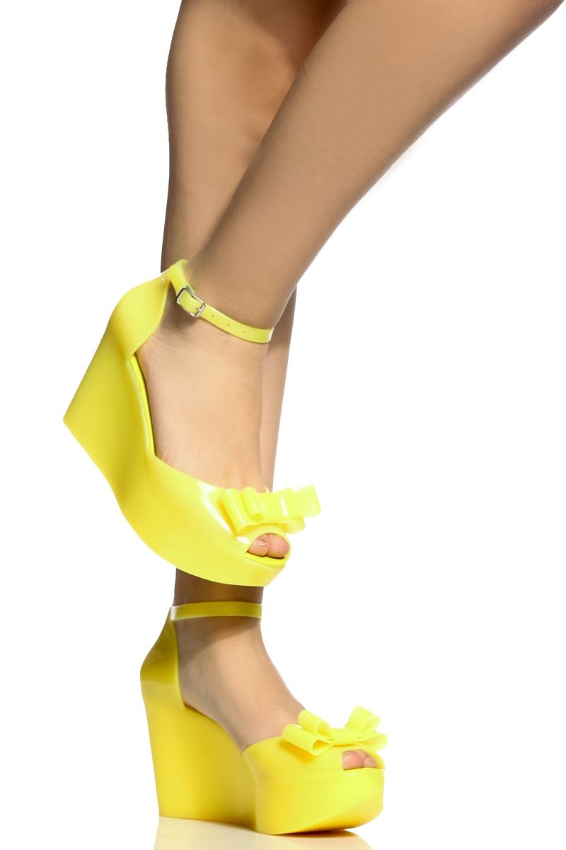 Yellow Jelly Peep Toe Bow Wedges Cicihot Wedges Shoes Store Wedge Shoes Wedge Boots Wedge Heels Wedge Sanda Womens Shoes Wedges Shoes Wedges Boots Prom Shoes [ 1200 x 800 Pixel ]