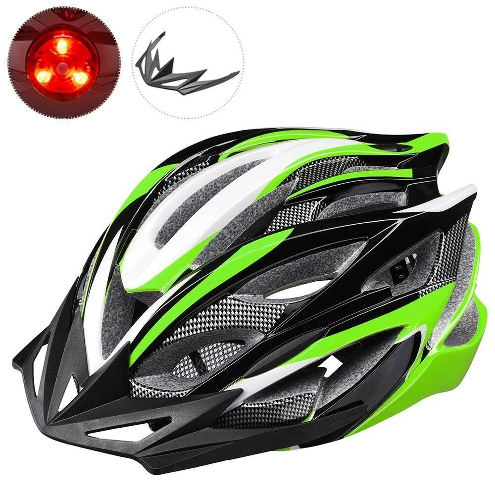 In Mold Bike Helmet Cpsc With Led Light 25 Vents Visor Adult Mtb